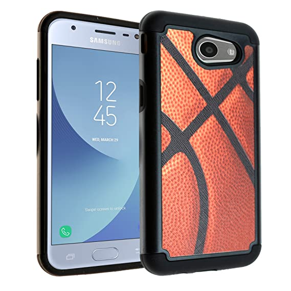 low priced 4184d 580d1 Galaxy J3 Emerge Case, Galaxy Express Prime 2 Case, DURARMOR [Drop  Protection] Vintage Basketball Dual Layer Hybrid ShockProof Slim Fit Armor  Case ...