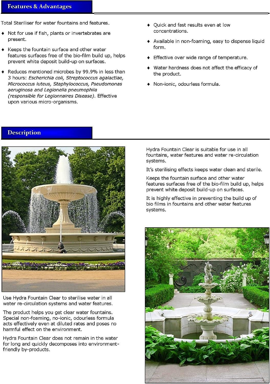 1L fuente del jardín Tratamiento Hydra Fountain Clear ...