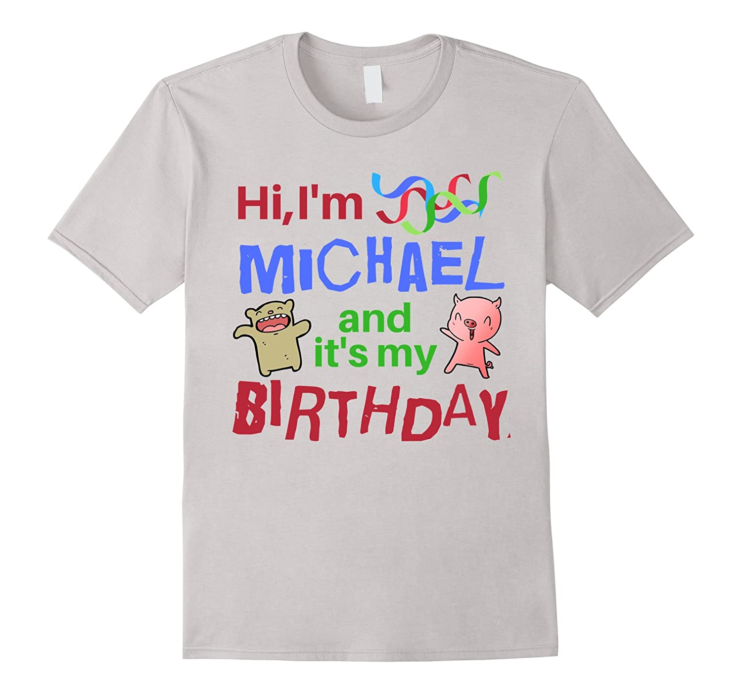 Cute Rainbow Michael Its My Birthday Shirt For Men And Kids TH