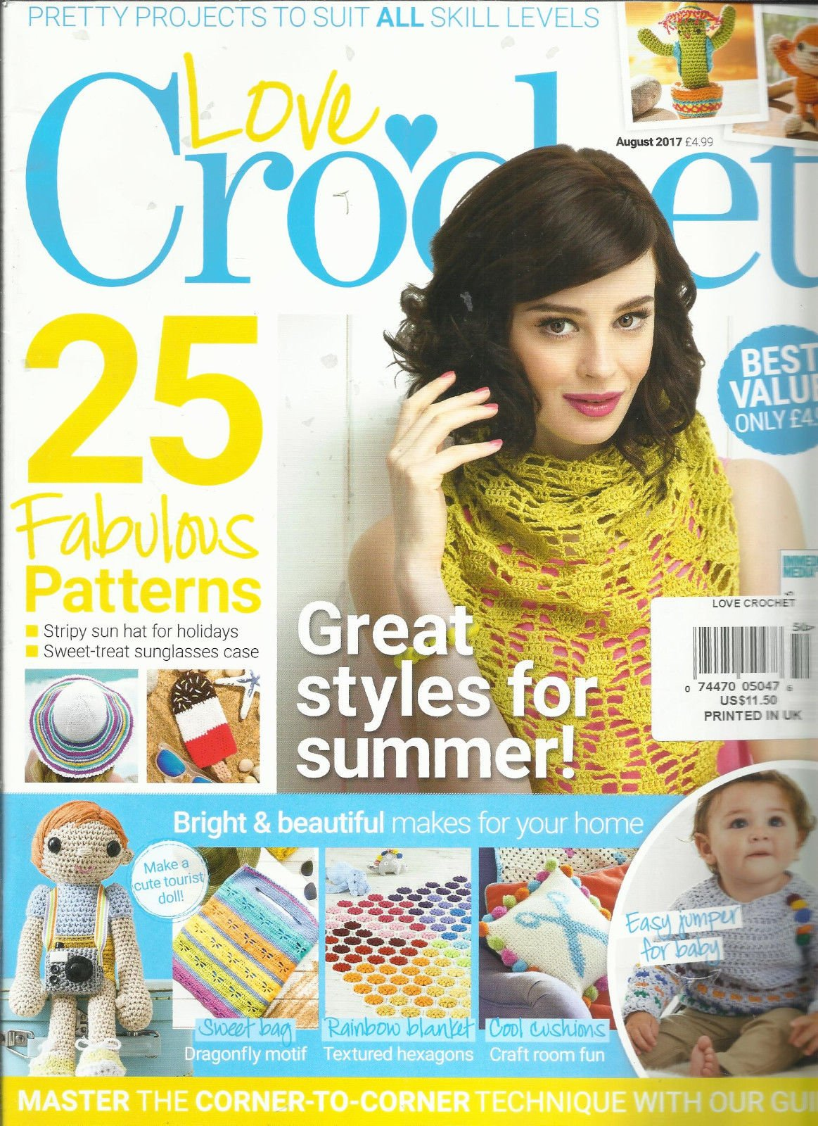 LOVE CROCHET MAGAZINE, AUGUST, 2017 FREE GIFTS OR INSERTS ARE NOT INCLUDED.