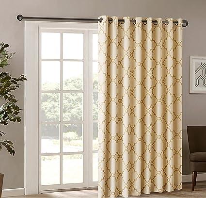 1Pieza 84 color dorado cortina de puerta corredera, diseño ...