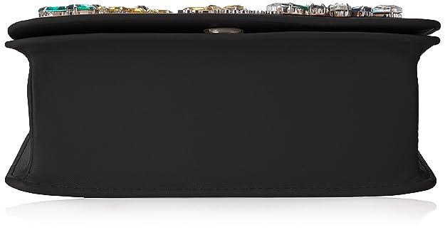 Love Moschino Nappa Pu Nero Borse Baguette Donna, (Black), 9x15x21 cm (B x HT)