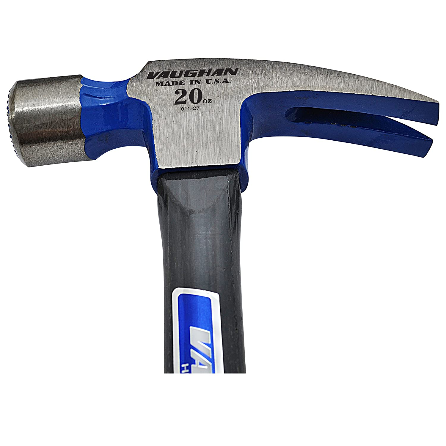 Vaughan FS999ML 20-Ounce -Inch999-Inch Straight Claw Hammer Straight Fiberglass Handle 16-Inch Long Vaughan /& Bushnell 2450-8095 Claw Hammers Hand Tools Milled Face