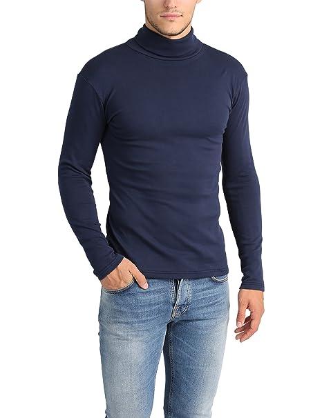Lower East Camiseta con cuello alto Slim Fit para hombre: Amazon.es: Ropa y accesorios