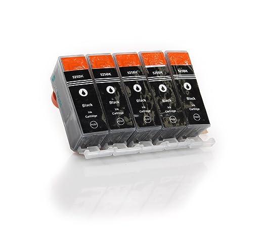 165 opinioni per 5 x PGI-525BK nero compatibile Cartucce
