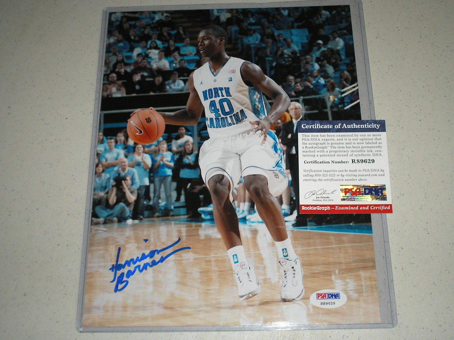 the best attitude 56ec5 bb1b7 Harrison Barnes Autographed Signed 8x10 Picture Autograph ...