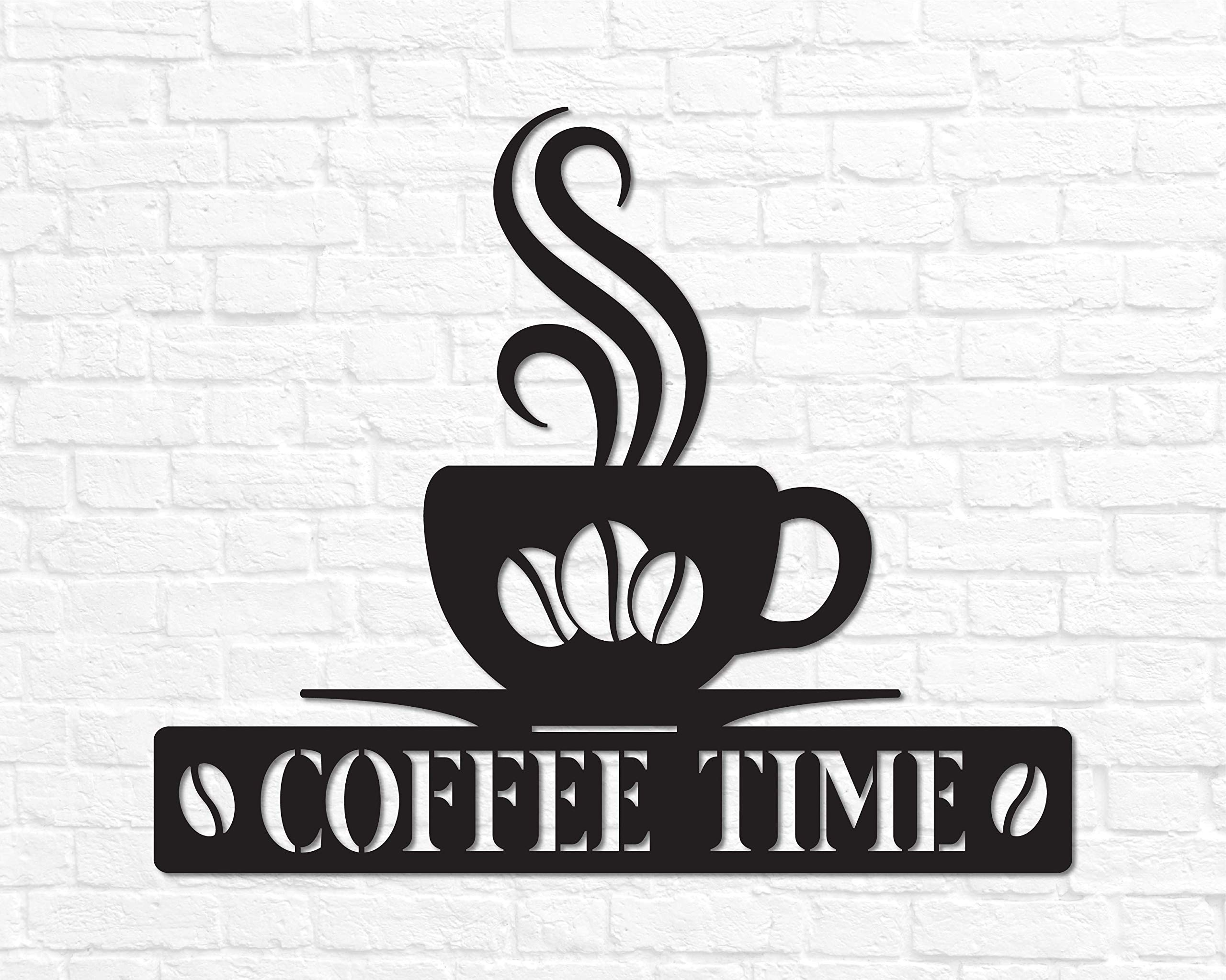 Coffee Sign Metal Coffee Sign For Kitchen Coffee Sign Decor Coffee Decor Kitchen Coffee Wall Art Steel Coffee Time Sign Kitchen Wall Decor Buy Online In Belize At Belize Desertcart Com Productid 180271044