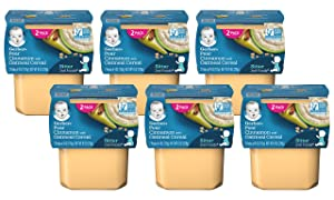 Gerber 2nd Foods Baby Food Tubs, Pear Cinnamon with Oatmeal, 2-4 OZ Tubs/Pack (Pack of 6)