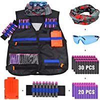 JVIGUE B074cfdwcf Veste Tactique Veste kit pour Pistolet Nerf N-Strike Elite Battle, Noir