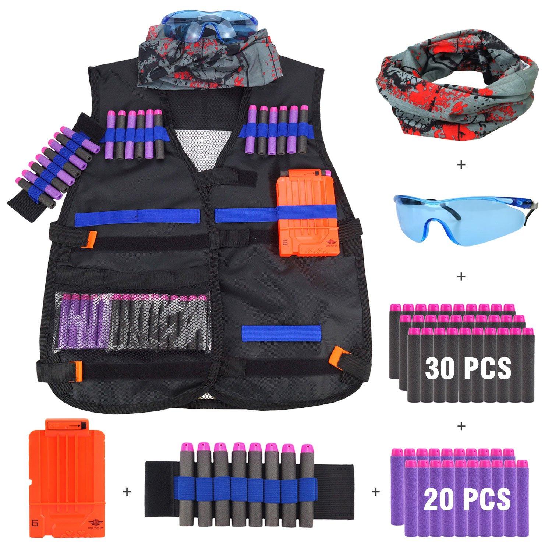 Kit de Chaqueta Chaleco Táctico de Los Niños para Nerf Gun N-Strike Elite Batalla JVIGUE
