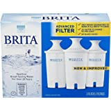 Brita Water Pitcher Replacement Filters, White 3 ea(Pack of 2)