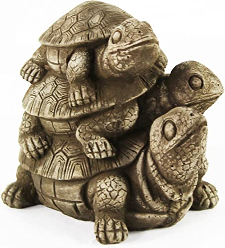 Turtles Statue Home and Garden Statues Gardener Statuary Decor Cast Stone Tortoise Sculpture