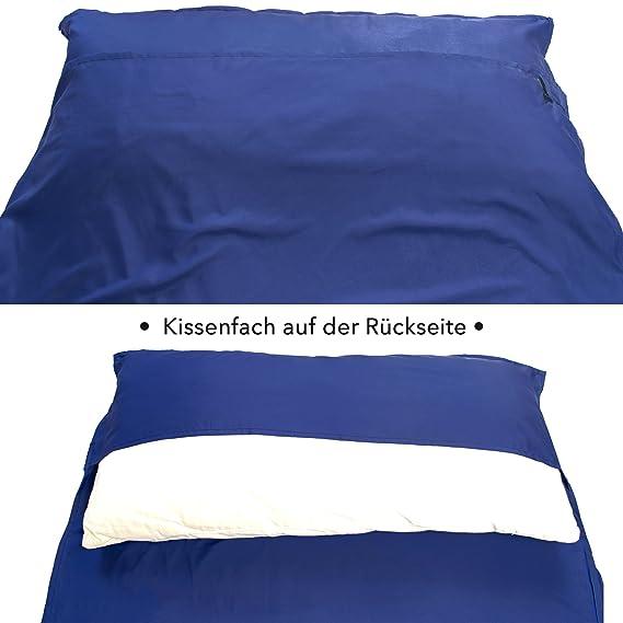 HAWK OUTDOORS Cabaña Saco de Dormir Viaje Saco de Dormir Sleeping Bag Liner Inlet: Amazon.es: Deportes y aire libre