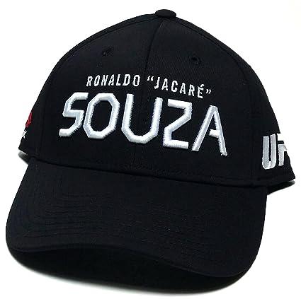 Reebok UFC MMA – Camiseta de Ronaldo Jacare Souza Brasil Fighter Ajustable Sombrero Gorra Flex Negro