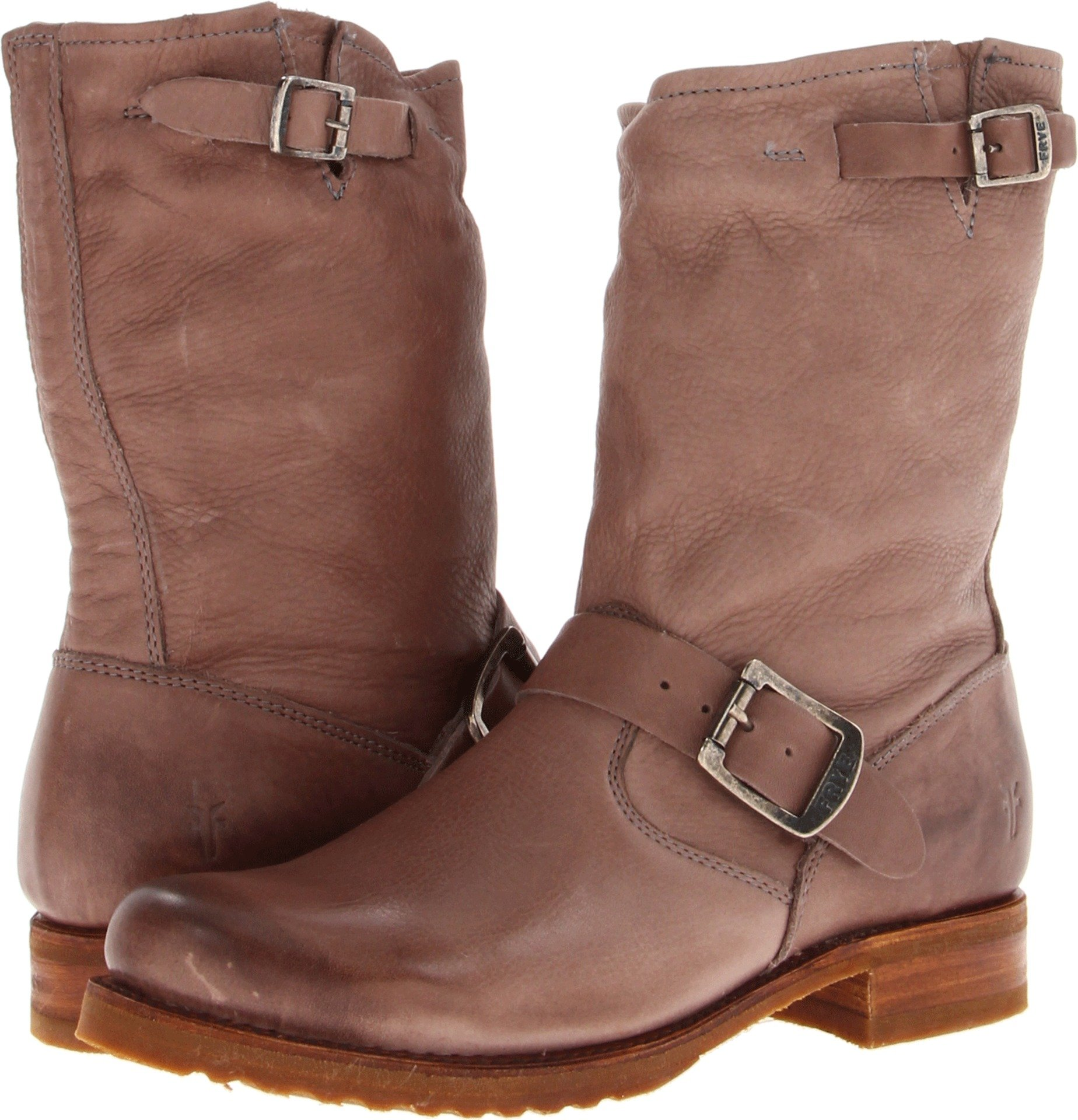 FRYE Women's Veronica Short Boot, Grey Soft Vintage Leather, 6 M US