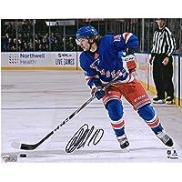"$119 » Artemi Panarin New York Rangers Autographed 8"" x 10"" Blue Jersey Skating Photograph - Fanatics Authentic Certified"