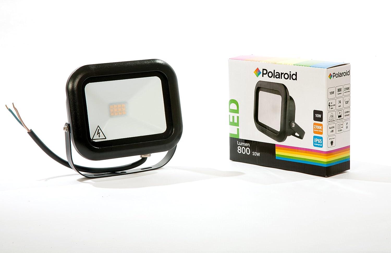 Polaroid LED Foco de 10 W, 800LM, 2700 K, IP65, blanco cálido, luz, foco, Foco, Floodlight: Amazon.es: Iluminación