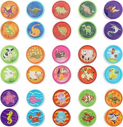 Amazon.com: shxstore Assorted goma sellos autom para niños ...