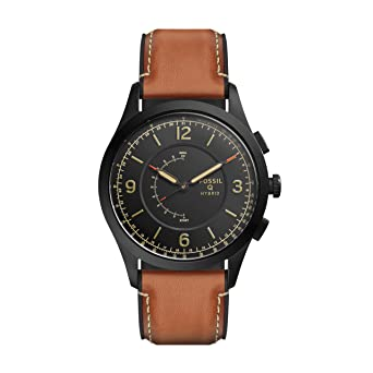 Fossil Hybrid Smartwatch - Q Activist Luggage Leather FTW1206
