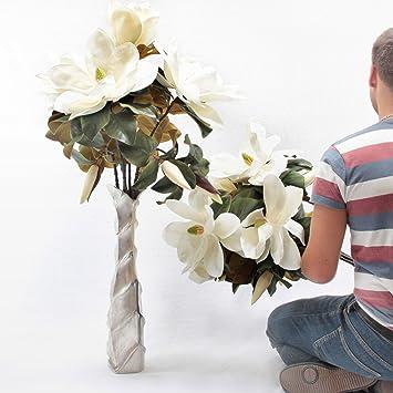 Grosse Kunstliche Blumen Weiss Magnolia Aus Latex Real Touch Und