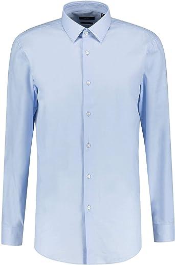 Hugo Boss isko - Camisa clásica de nido de abeja, color azul ...