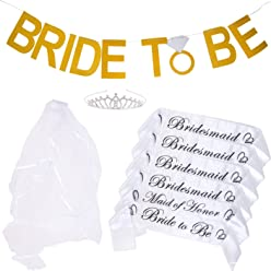 3acd3dbc Bachelorette Party Bride to Be Kit - 6 Unique Sash for Bride, Bridesmaid  and Maid