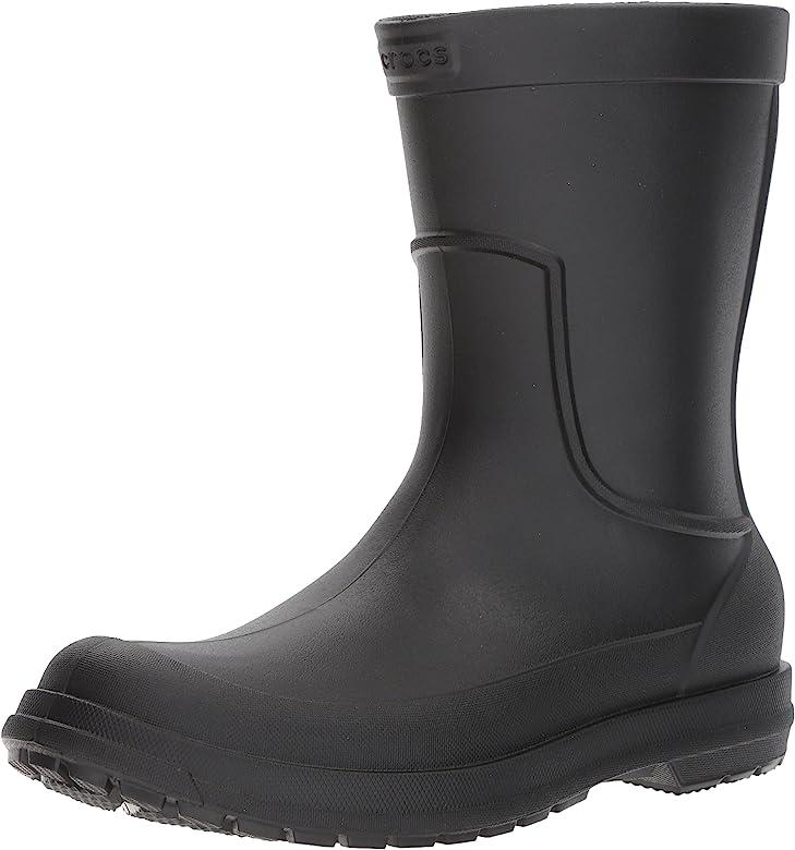 Crocs Men's All Cast Rain Boot Black