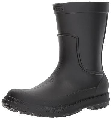 Crocs Men's AllCast M Rain Boot, Black/Black, ...