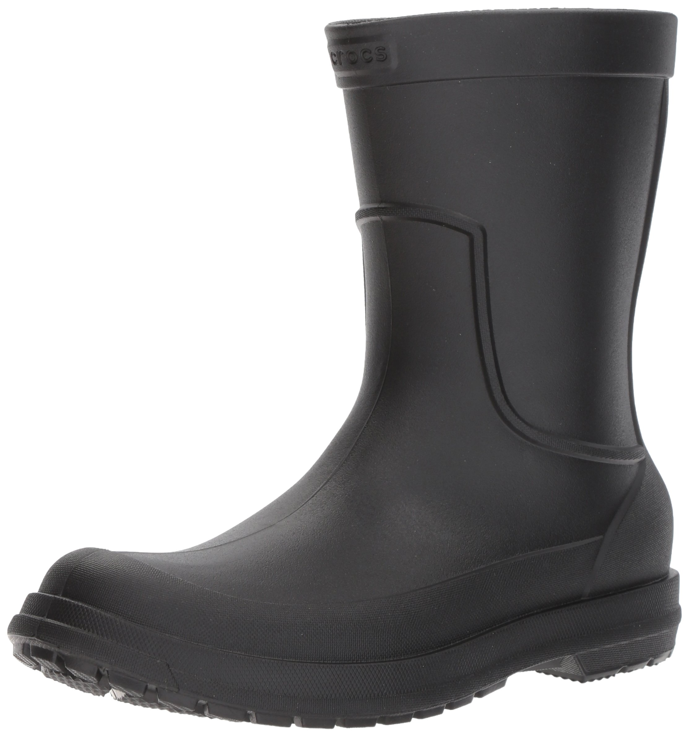 Crocs Men's AllCast M Rain Boot, Black/Black, 12 M US