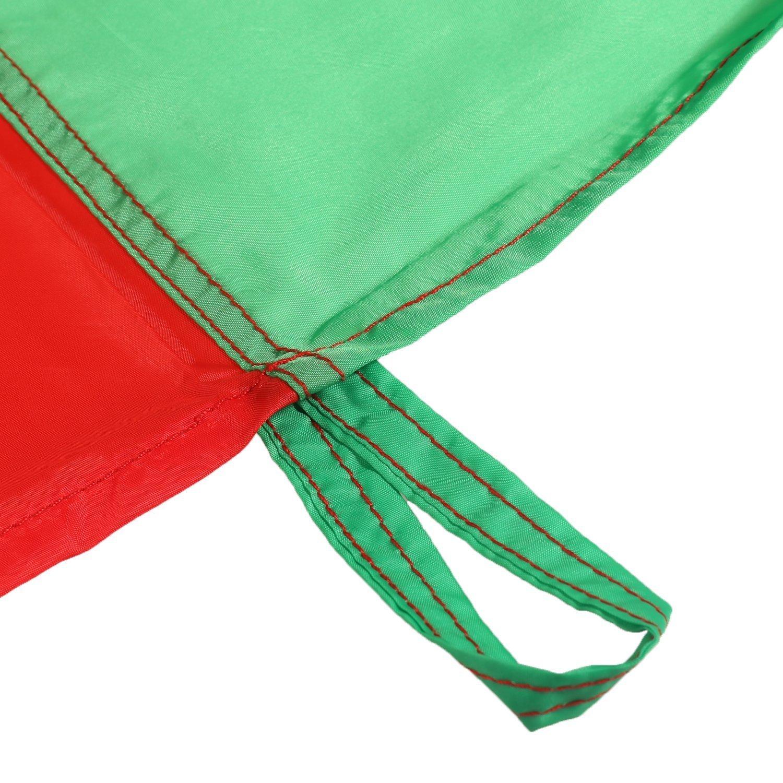 LEADSTAR 6FT Juego De Paraca/ídas de Color para Ni/ños Arco Iris Juegos Actividades Deportivas Fiestas Ejercicios en Grupo Al Aire Libre