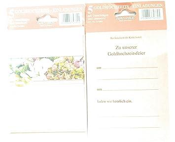 24 Einladungskarten Goldhochzeit Goldene Hochzeit