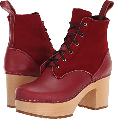 hasbeens Up 36 Hippie swedish Red Women's Wine Lace PgqwzHnd