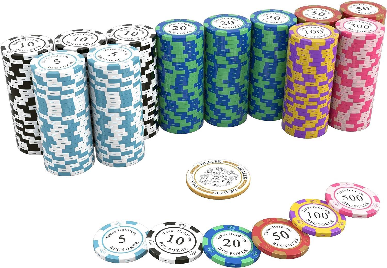 Button dealer in ceramica PER Poker Texas Hold/'Em IN 10 MODELLI PROFESSIONALE