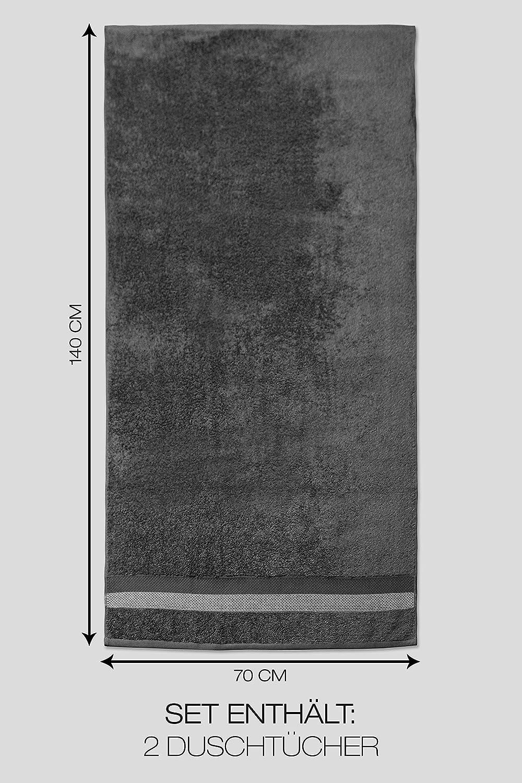 2 x Duscht/ücher, Blau jilda-tex Handtuch Duschtuch Frottierware Set 100/% Baumwolle Verschiedene Gr/ö/ßen//Farben
