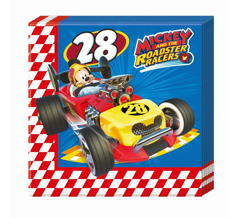 87939 Pack 20 Servilletas De Papel Disney Mickey Mouse Y Los Superpilotos Colorbaby