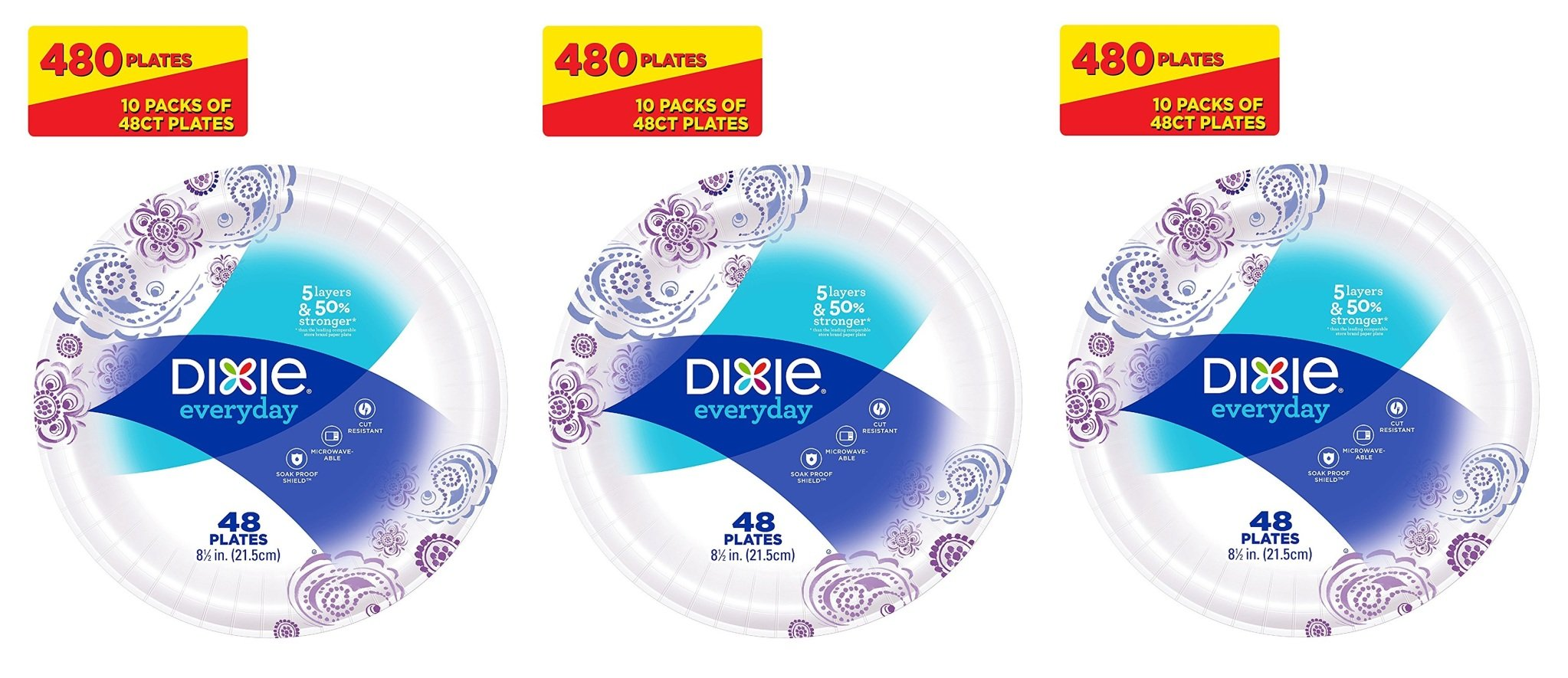 Dixie Everyday Paper Plates, zZPtLK 8.5 Inches, 3Pack of 10 by Dixie