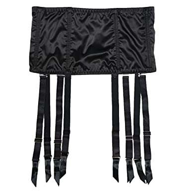 4c2526c16 TVRtyle Women Stain 8 Straps Black Removable Metal Buckles Sexy Garter Belt  for Stockings Fishbone Waist