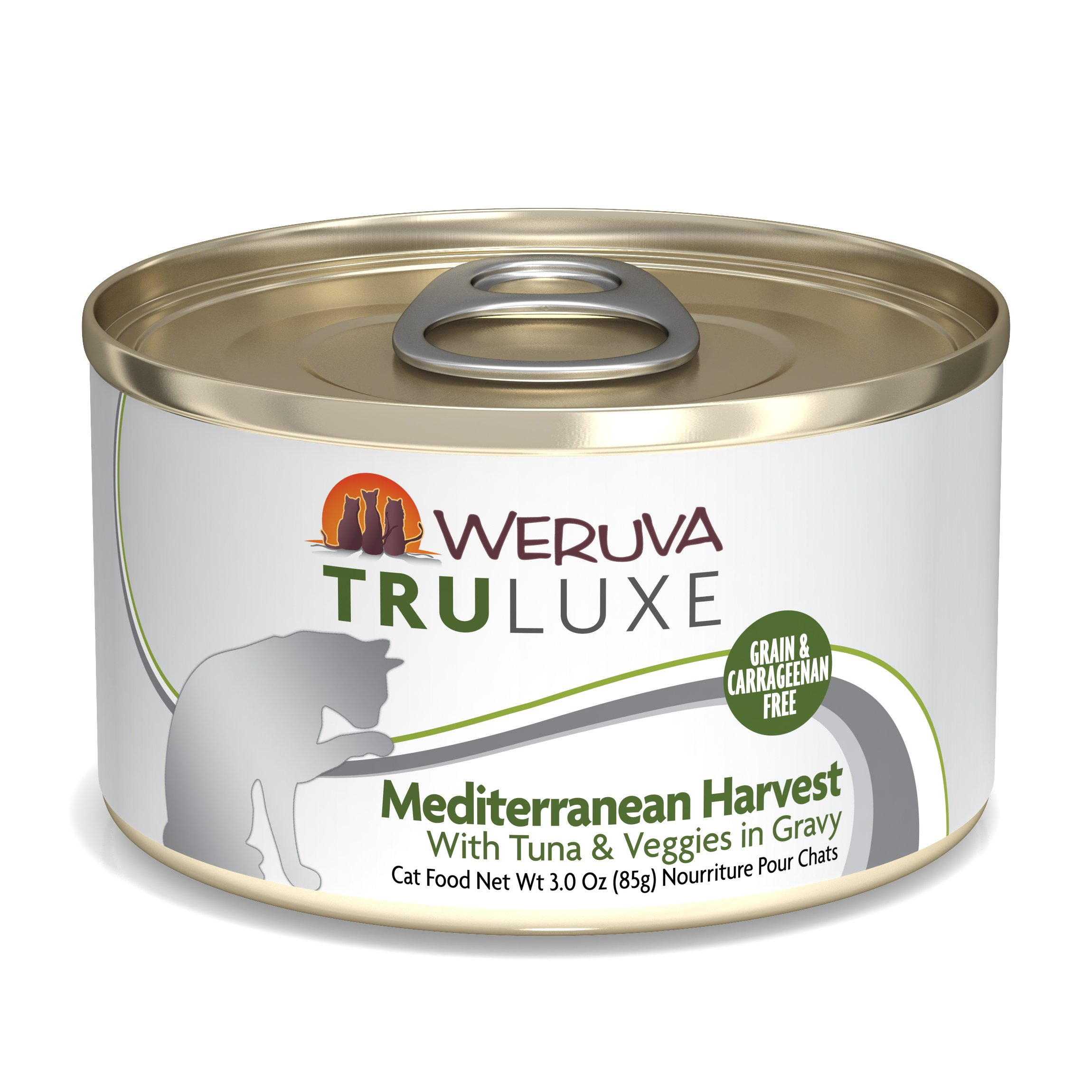 Weruva Truluxe Cat Food, Mediterranean Harvest With Tuna Whole Meat & Veggies In Gravy, 3Oz (Pack Of 24) by Weruva