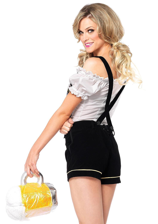 sc 1 st  Amazon.com & Amazon.com: Leg Avenue Womenu0027s Oktoberfest Lederhosen Costume: Clothing