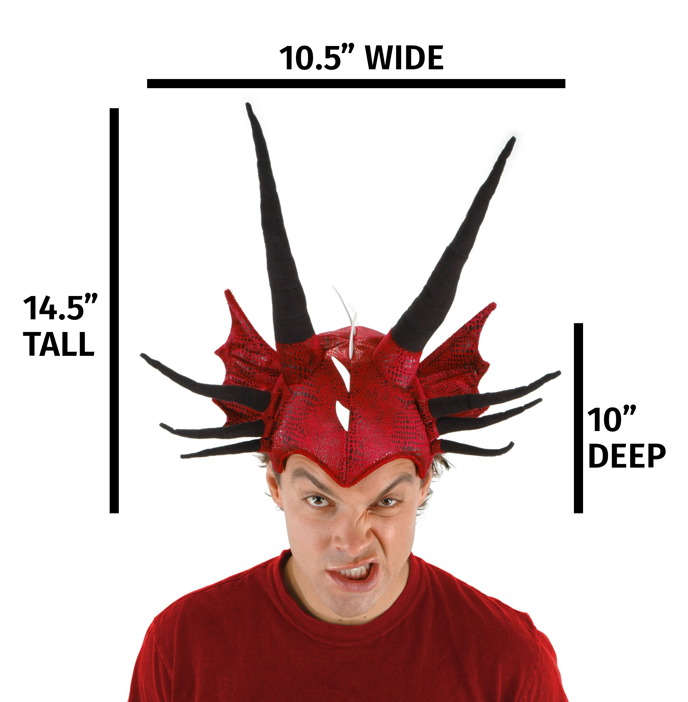 Red Dragon Costume Plush Hat for Kids and Adults by elope
