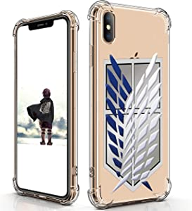 oqpa for iPhone Xs Max Case Cartoon Character Funny Cute Fun TPU Design Cover for Girls Kids Boys Teen, Fashion Cool Unique Protective Aesthetic Anime Wings of Freely Cases (for iPhone Xs Max 6.5