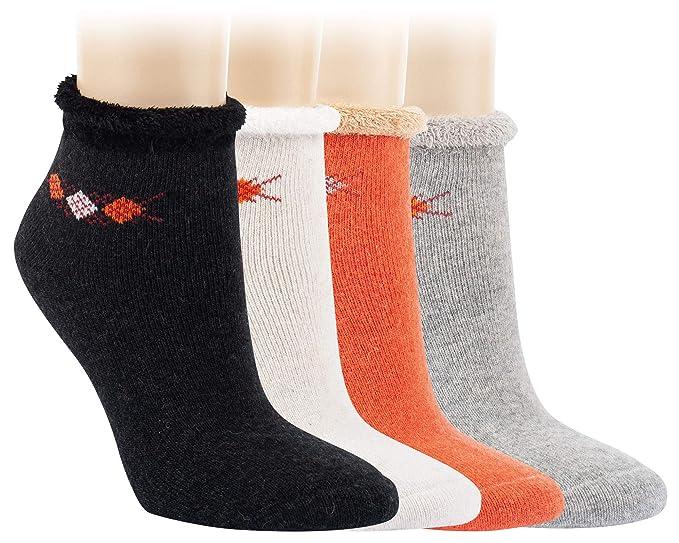 Vita Sox Mujer Calcetines Zapatillas Calcetines Calcetines para mujer con ABS Tope Calcetines Manta Calcetines con