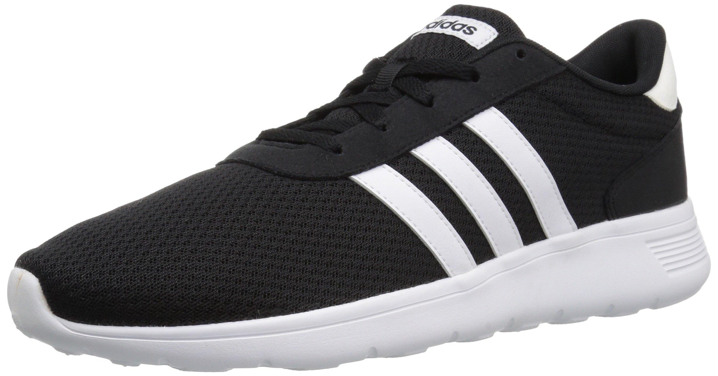 huge selection of 7ce54 8465c Galleon - Adidas Mens Lite Racer Running Shoe, Black White,