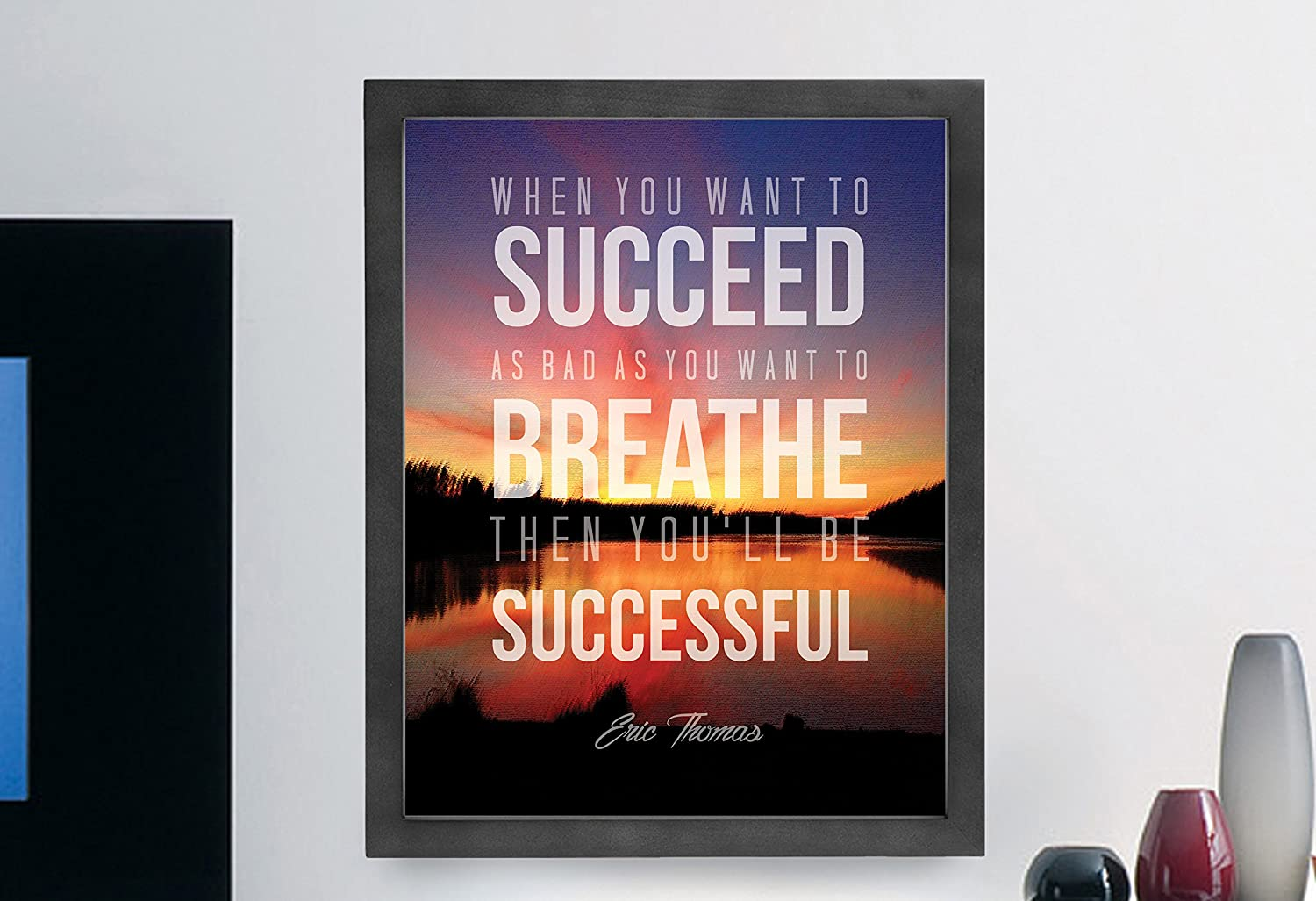Wall Art Quote Success Motivation Poster Print Life YOU ONLY LIVE ONCE Frame