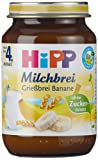 Hipp Grießbrei Banane 190 g, 6er Pack (6 x 190 g) - Bio