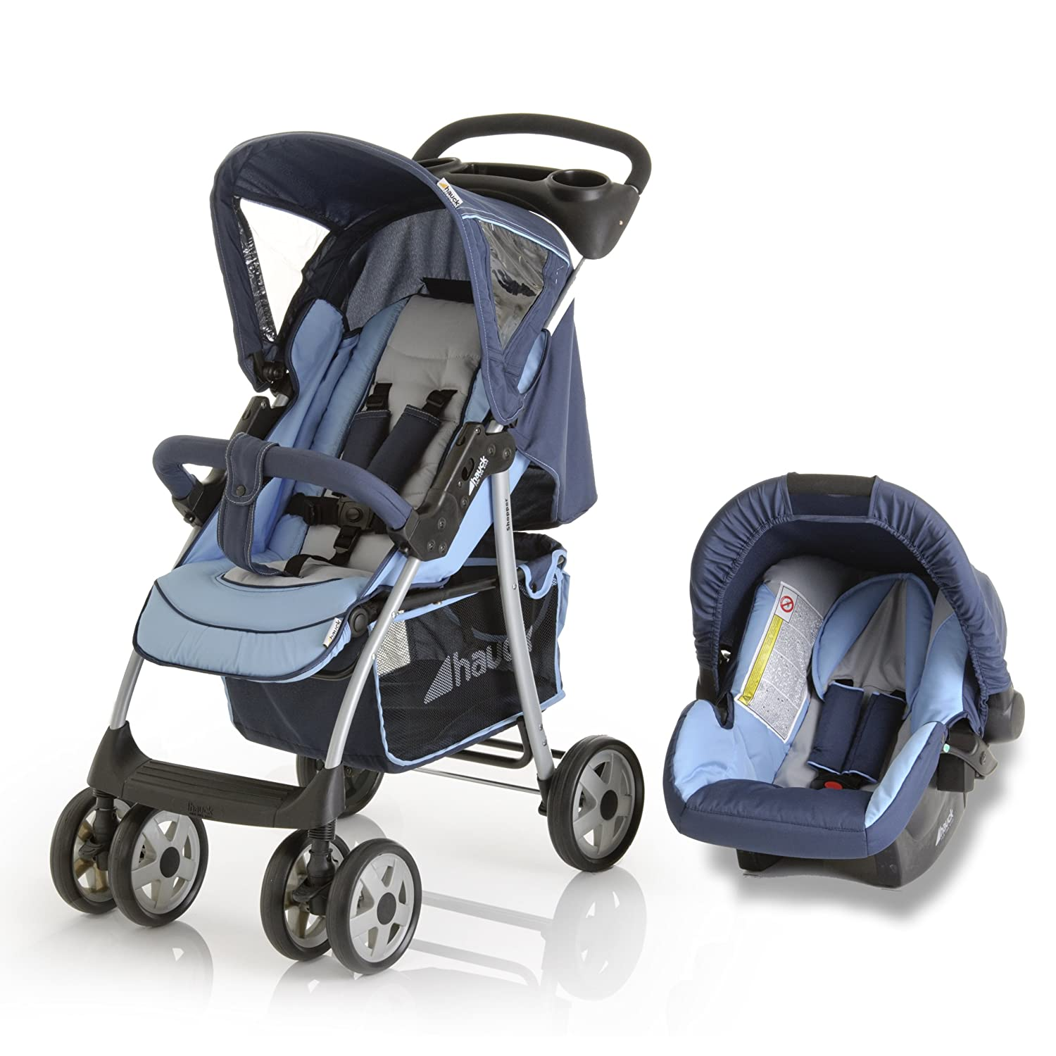Hauck Shopper Shop N Drive - Carrito para bebé, color azul: Amazon ...