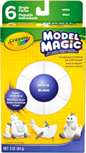 Crayola Model Magic Single Packs, White blanc, 3 Oz