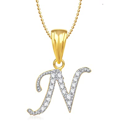 Buy meenaz n letter pendant locket gold plated alphabet heart meenaz n letter pendant locket gold plated alphabet heart for men and women with mozeypictures Choice Image