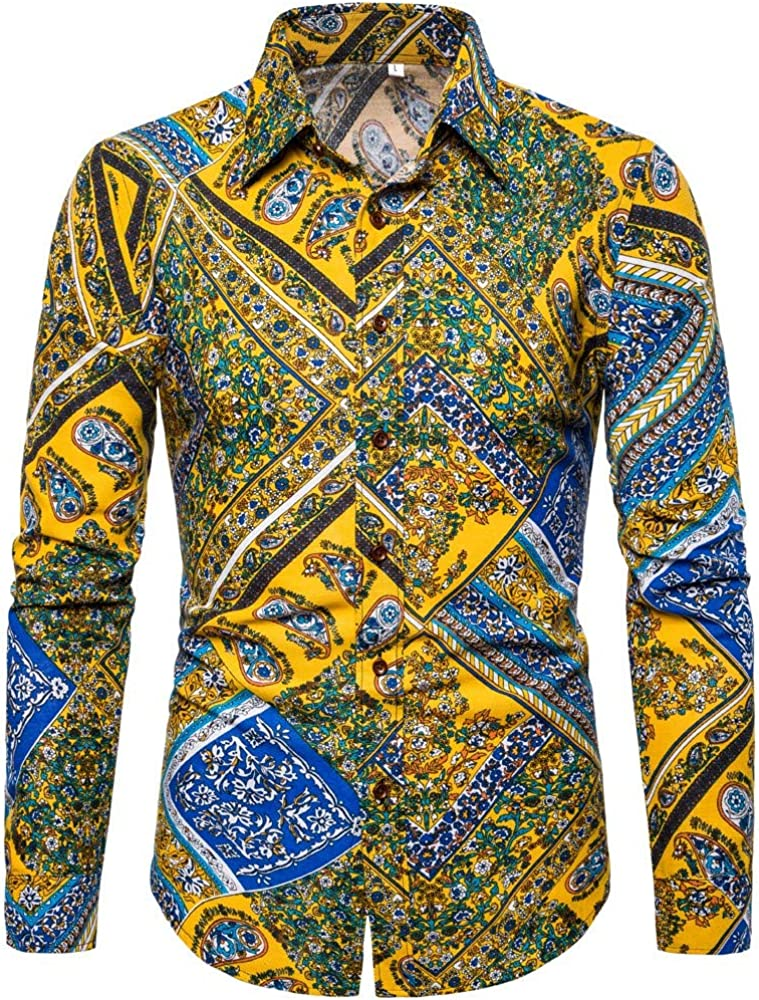 Berimaterry Camisas De Vestir De Fibra De Bambú para Hombre Slim Fit Color Sólido Camisas Casuales De Manga Larga Camisas con Botones Camisas Elásticas Formales para Hombres Floral Estampado Tops: Amazon.es: Ropa