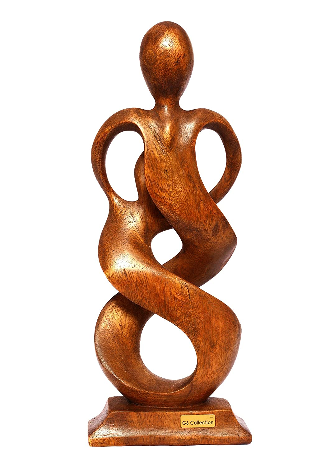 Entwined Spirits Gift Art Decorative Home Decor Figurine Accent Decoration Artwork Handcarved Entwined Spirits G6 Collection 12 Wooden Handmade Abstract Sculpture Statue Handcrafted